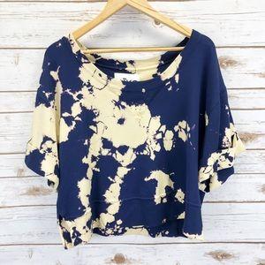 Aiko Tie Dye Cropped Sweater Sz XS ::JJ15